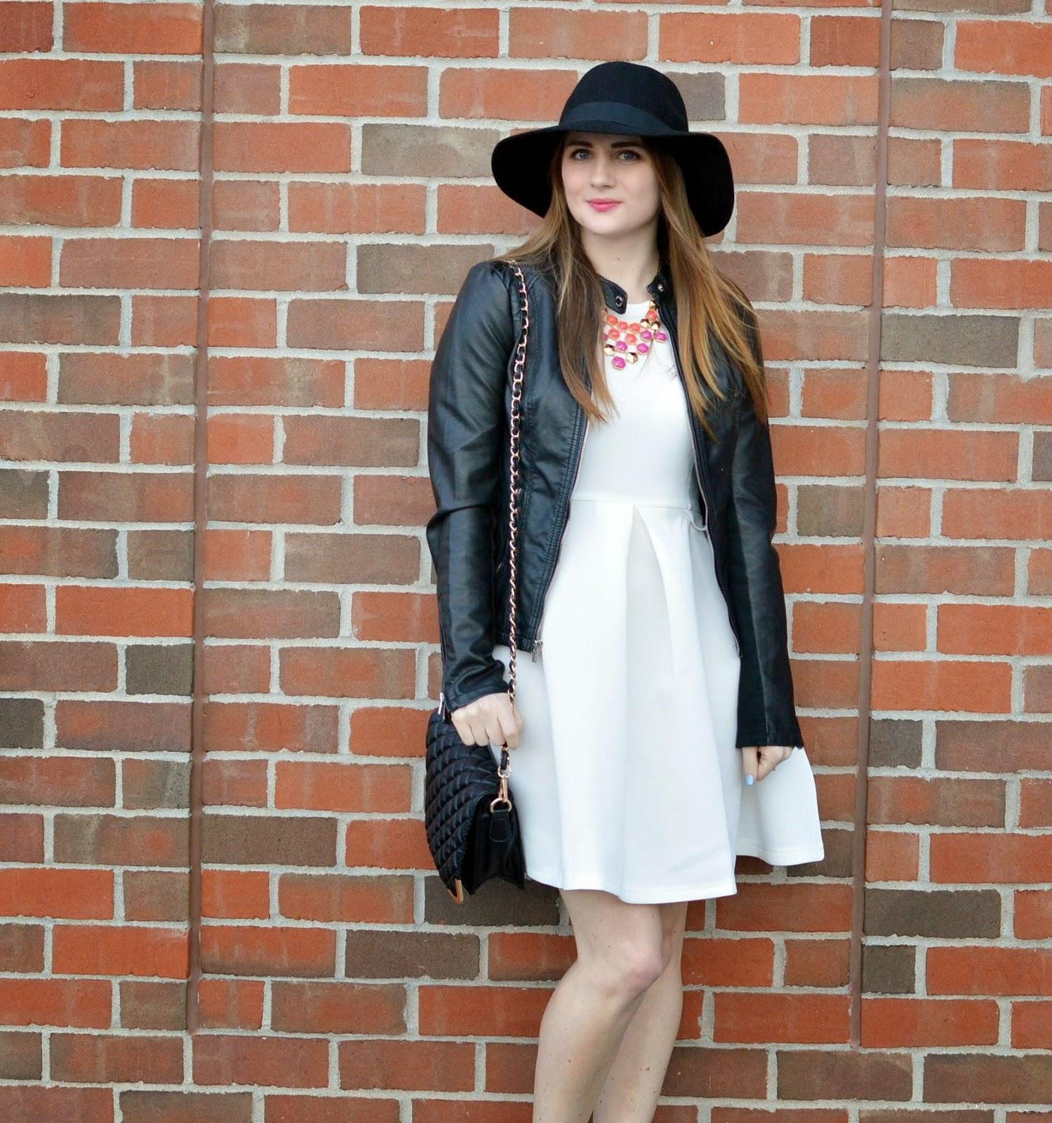 Wedding Dress White Leather Jacket