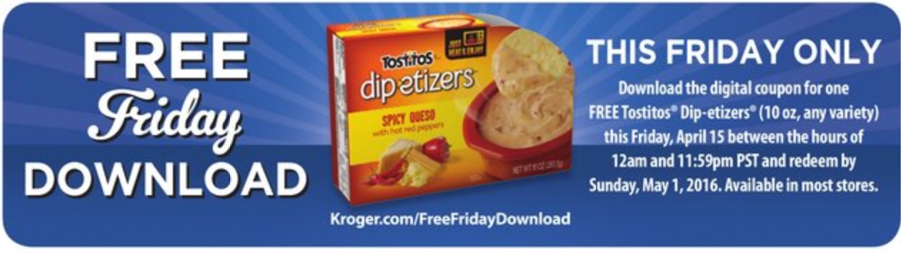 Check out Kroger Free Friday Download and download your kroger digital coupons free friday for 1 FREE. Redeem by Sunday, Available in most stores. Find latest Weekly ad Circular, Digital Coupons, Ad Sales Price Flyer, Grocery Stores & Location Hours in single Placee.