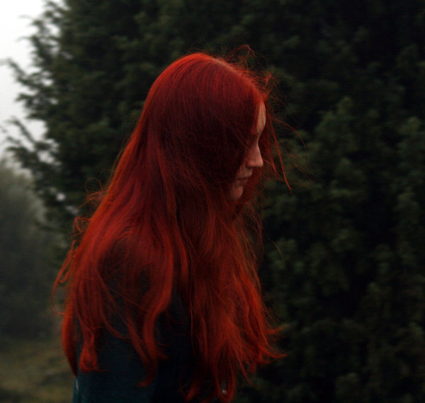 Dark henna red