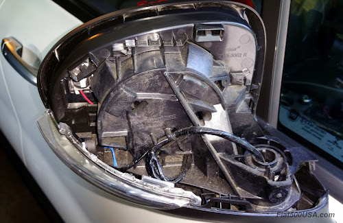 Mirror Housing with cover removed