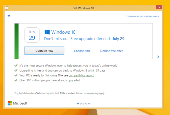 Windows 10 Offer now has the option to be declined