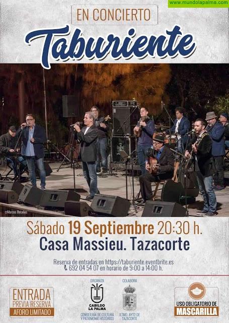 Taburiente en concierto en Tazacorte