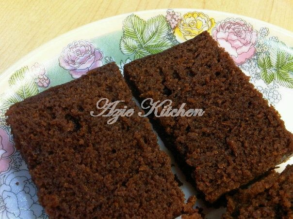 Kek Coklat Kukus Untuk Birthday Azie