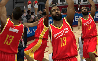 NBA 2K13 Houston Rockets Alternate Away Jersey Download