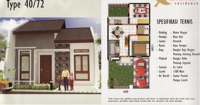 Desain dan Denah Rumah Ukuran 6 x 12 m Gambar Rumah Idaman