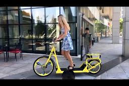 Sepeda TreadMill, sepeda model baru, berjalan diatas treadmill yang berjalan