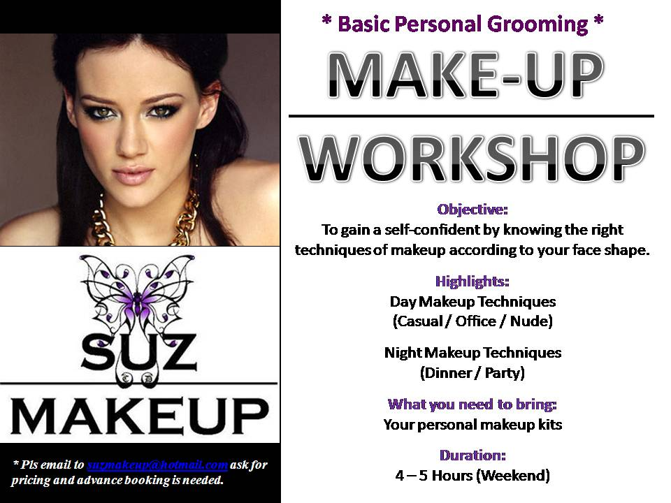 makeup enthusiasm basic personal grooming makeup workshop. Black Bedroom Furniture Sets. Home Design Ideas