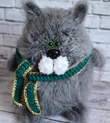 Кот амигуруми вязаная игрушка