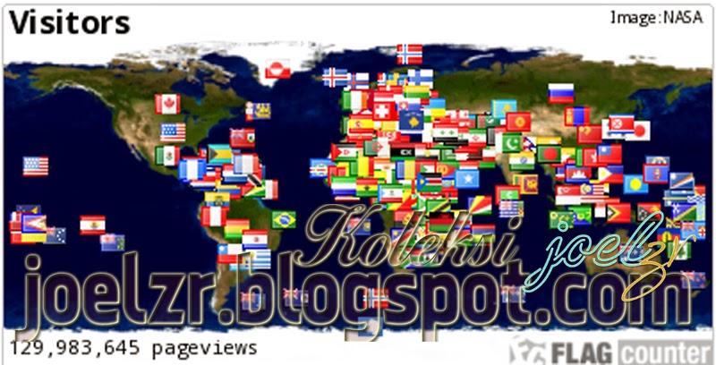memasang daftar pengunjung di blog dengan  flag counter
