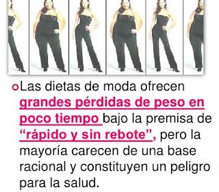 Las dietas de moda y la pérdida de peso.