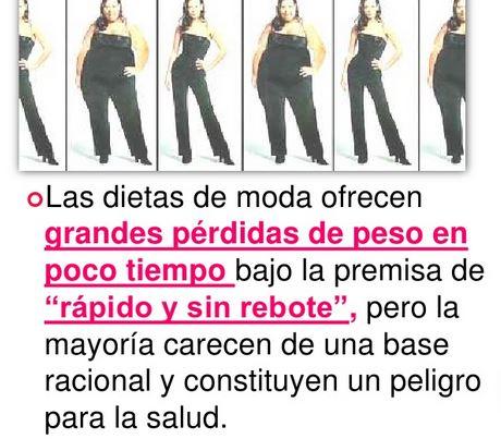 Cuales son las dietas de moda y la pérdida de peso