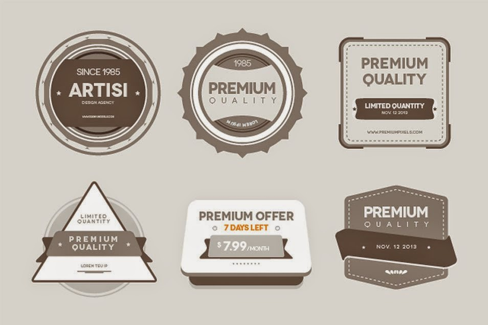 Quality Badges PSD