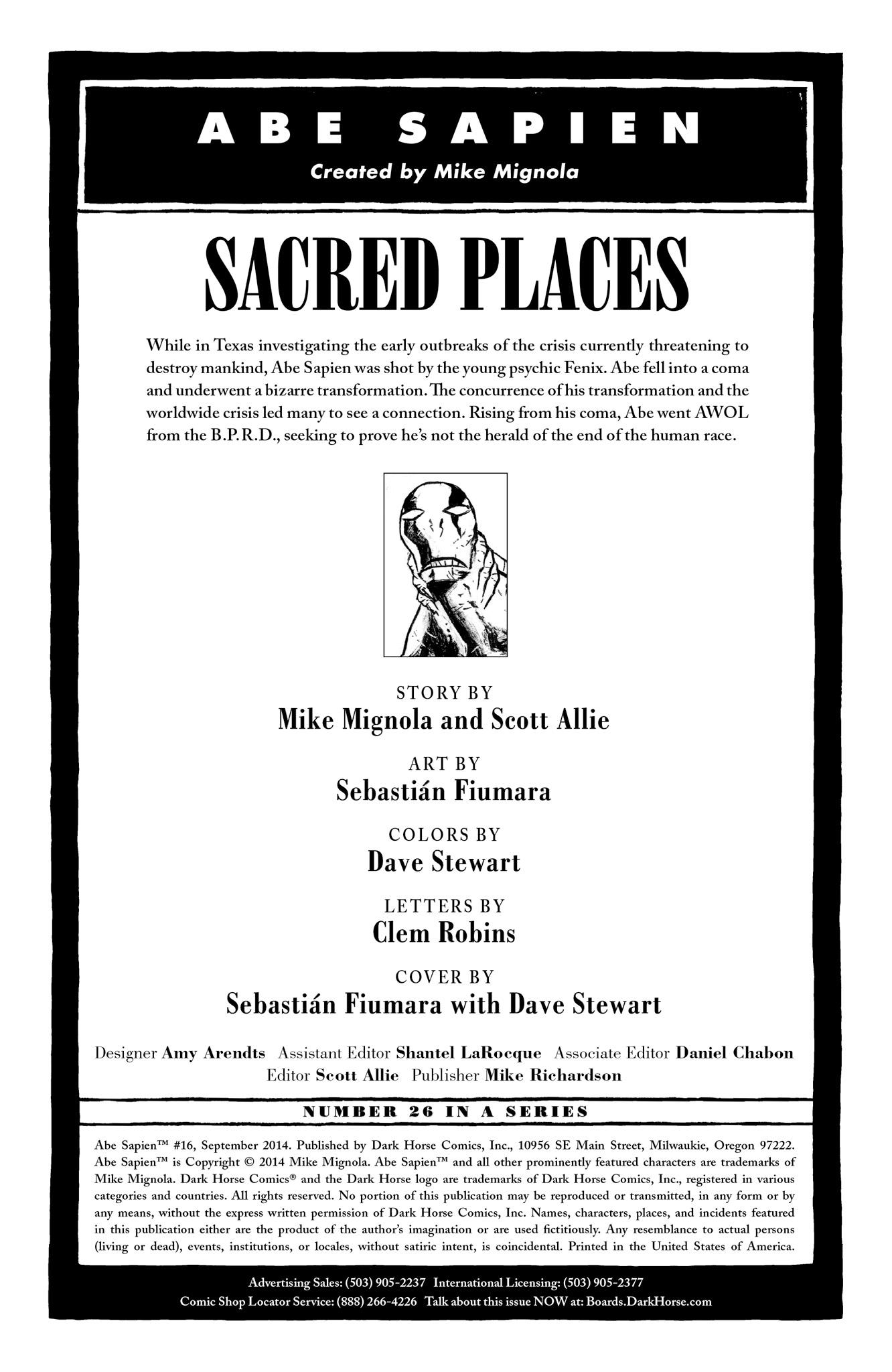Read online Abe Sapien comic -  Issue #16 - 2