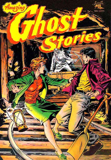 Amazing Ghost Stories v1 #16 - Matt Baker 1950s golden age comic book cover art