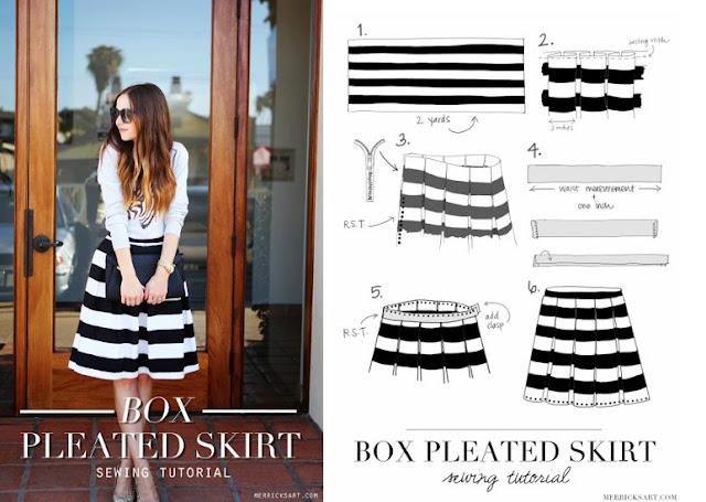 Comment faire une jupe pliss e tendance et chic bettinael - Comment faire des rideaux a plis francais ...
