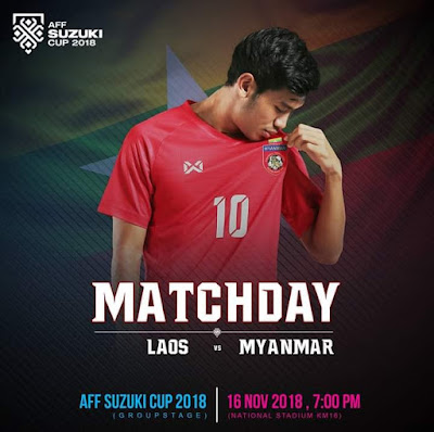 Live Streaming Laos vs Myanmar AFF Suzuki 16.11.2018