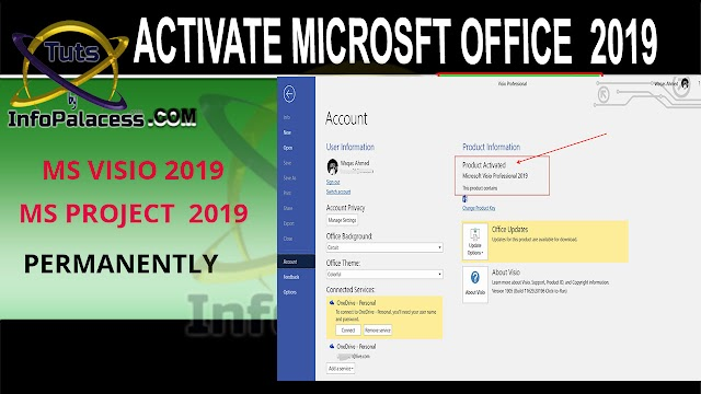 Activate Microsoft Visio 2019 Microsoft Project 2019 Permanently