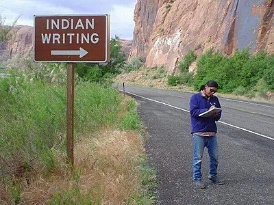 Indian writing sign