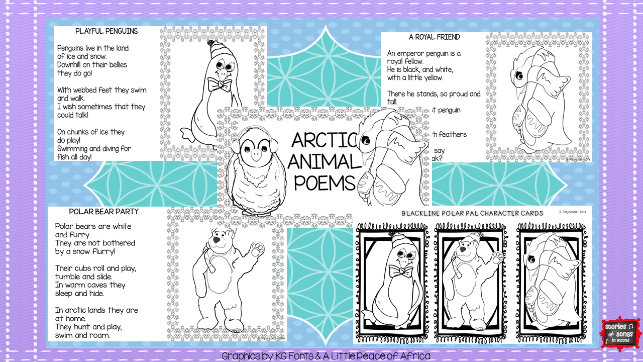 Your primary grade students will love building their reading fluency skills with these poetry activities about penguins and polar bears!