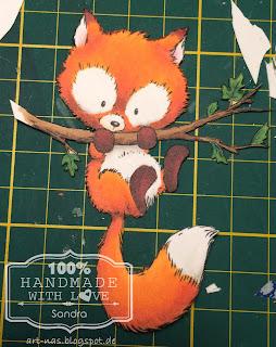 Den Fuchs per aufwendig per Hand ausgeschnitten