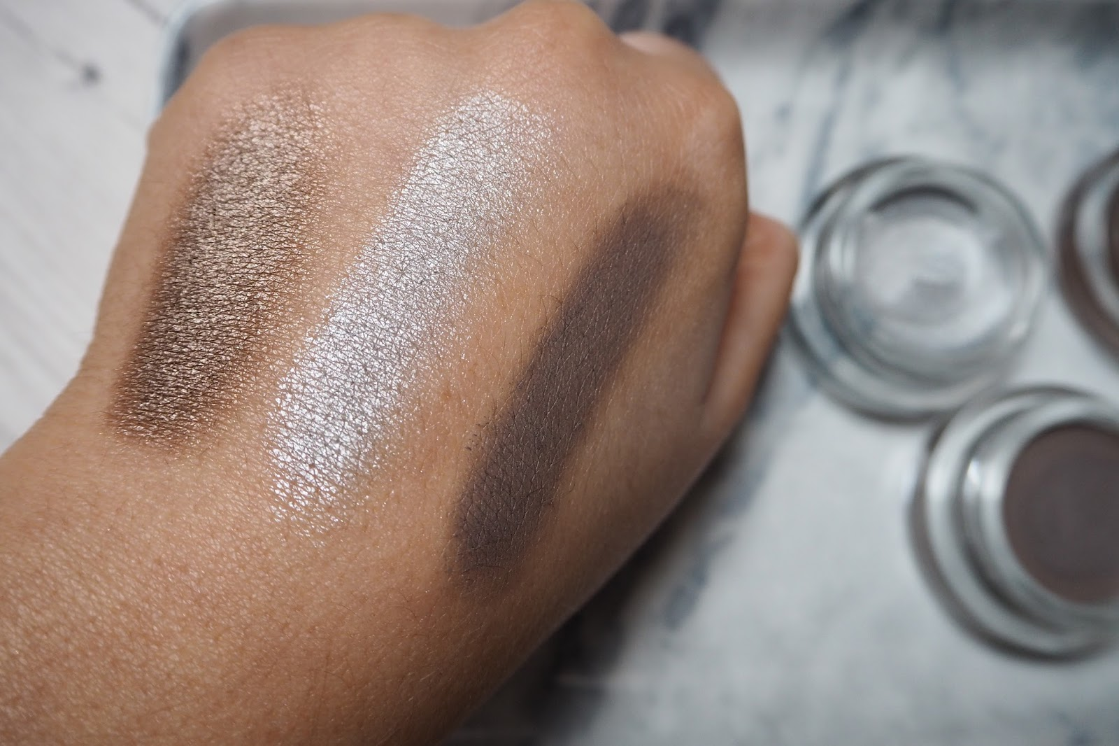 Maybelline Colour 24hr Tattoo Gel Shadow  Swatches - Rachel Nicole UK Blogger