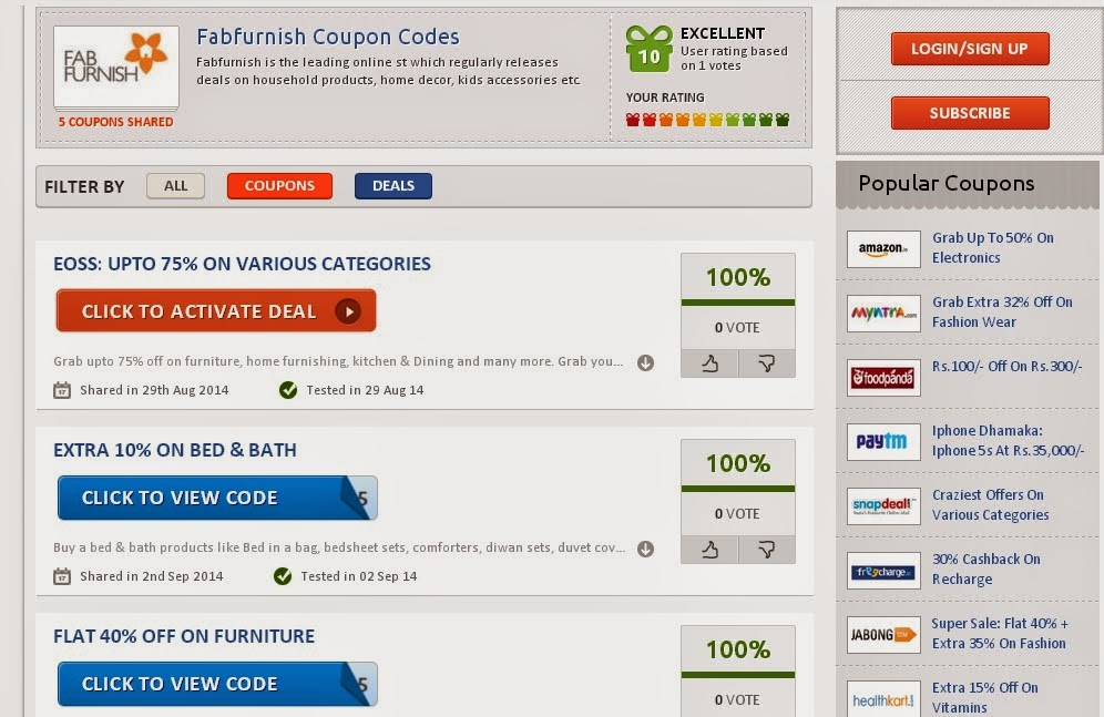 fabfurnish discount coupons fabfurnish is a website where you can get everything 10249