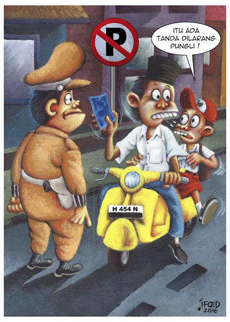 """Kartun """"Pungli"""" karya M Syaifuddin"""