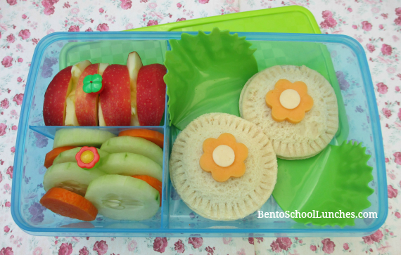 Flowers Uncrustabled for bento school lunches