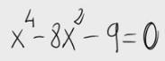 29. Ecuación bicuadrada 2