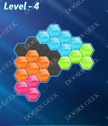 Block! Hexa Puzzle [Intermediate] Level 4 Solution, Cheats, Walkthrough for android, iphone, ipad, ipod