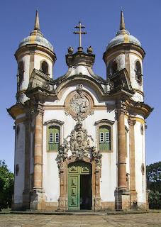 Igreja de São Francisco com obras de Aleijadinho - Ouro Preto - MG