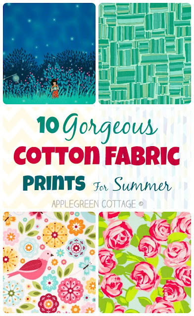 These are my favorite 10 cotton fabric prints for this summer.  Have a peek!