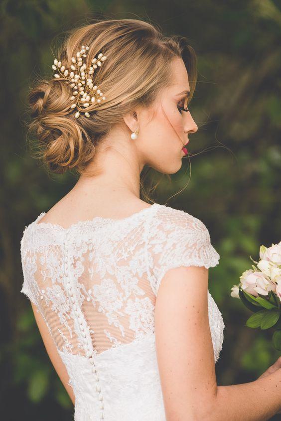 Peinados Recogidos Novias 2017 - Peinados de novia recogidos 2018 30 propuestas para lucir perfecta