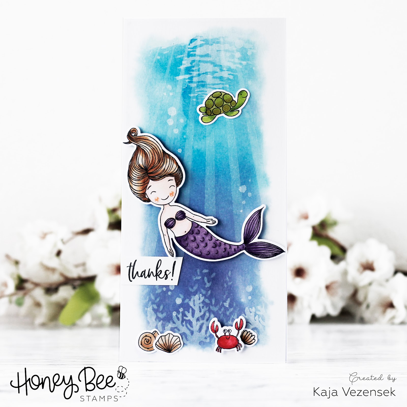 Stenciled ocean scene | HONEY BEE