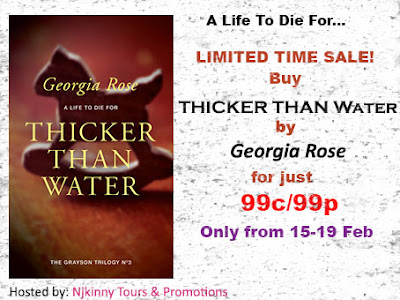 99c/99p Sale: Thicker Than Water by Georgia Rose (15-19 Feb)