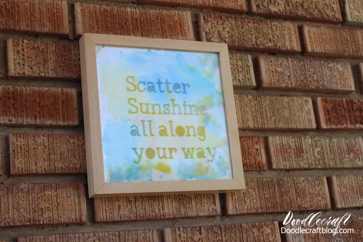 Doodlecraft: Glass Etched Watercolor Wall Art