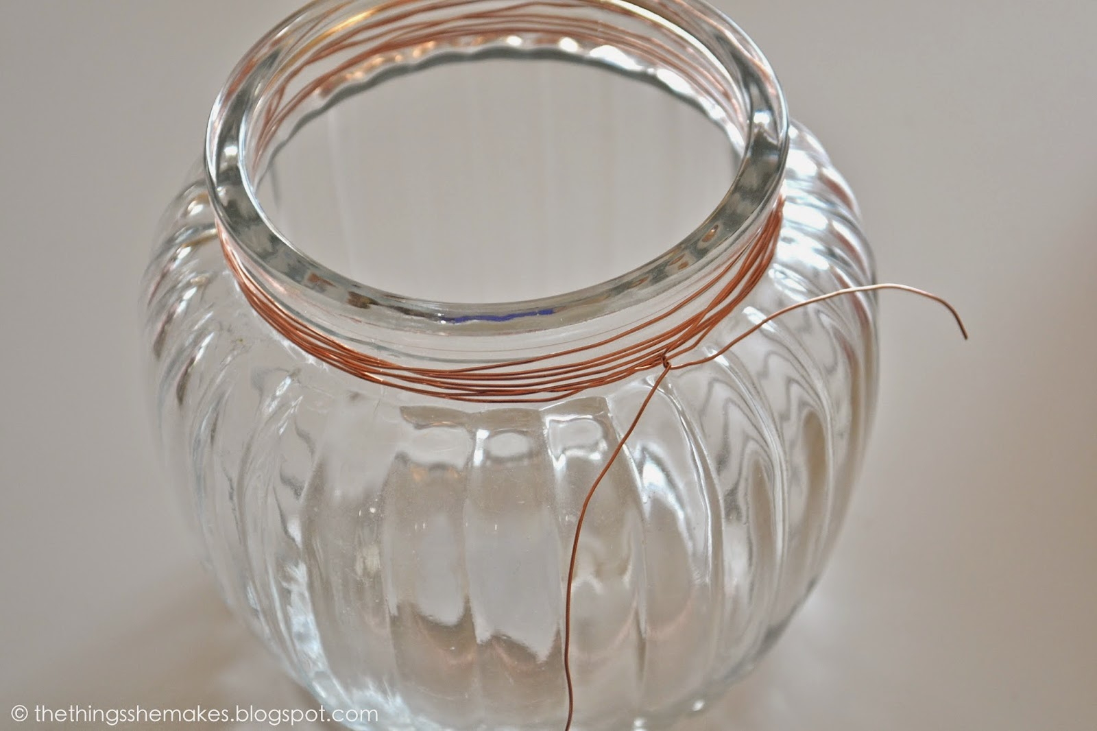 How To Make a Copper Wire Wrapped Jar | The Things She Makes