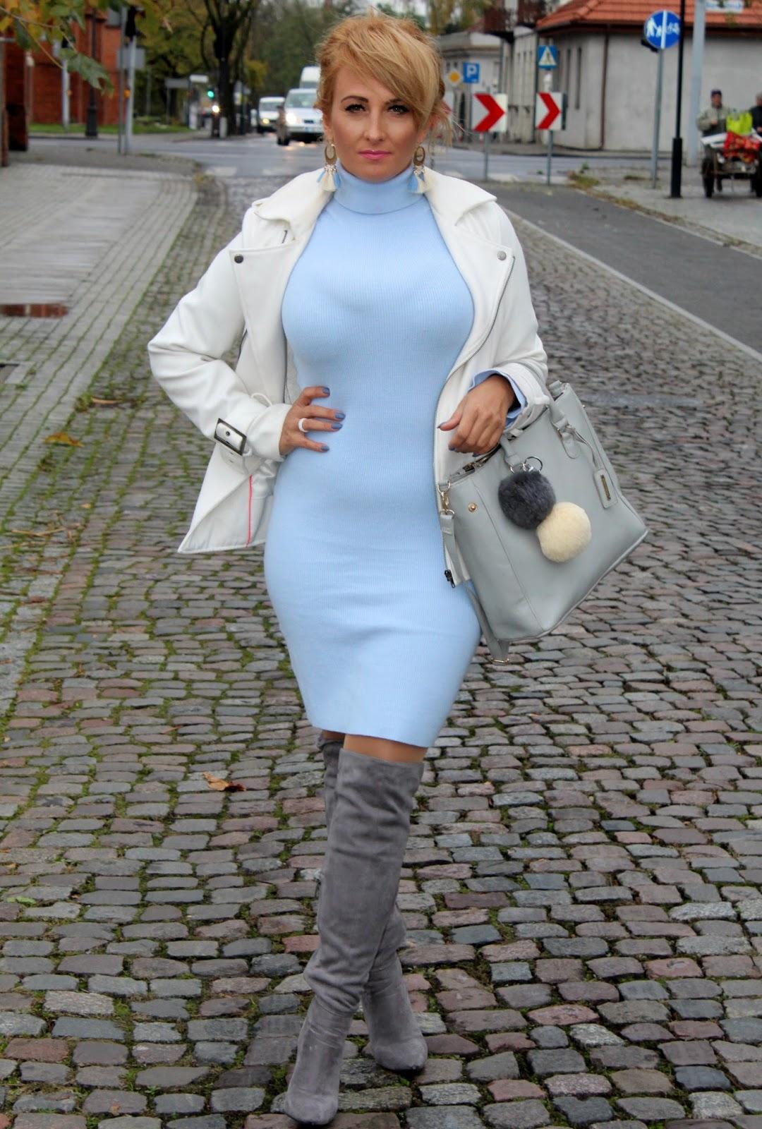 d8b18995 Sukienka w kolorze baby blue   Moda   zBLOGowani