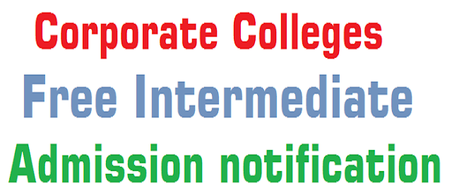AP TS Corporate Colleges,Inter Admission notification