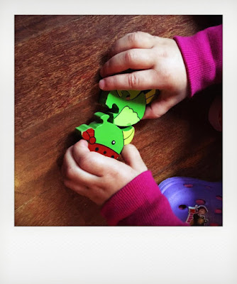 Toddler's wood puzzle