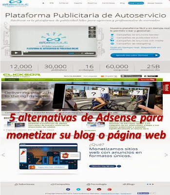 5 alternativas de Adsense para monetizar su blog o página web