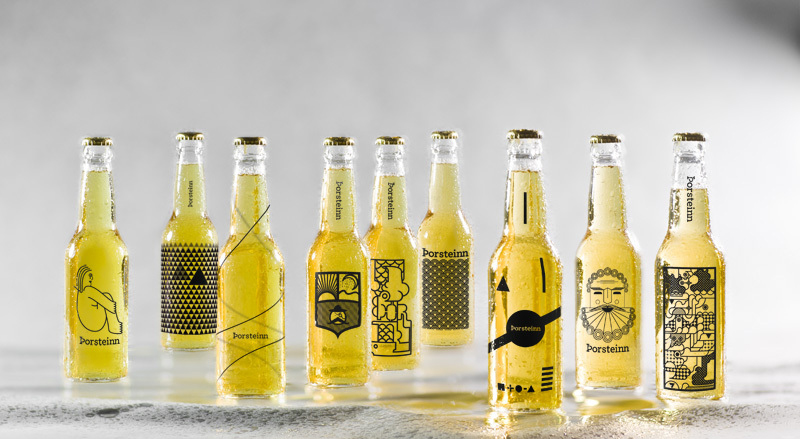 horsteinn Beer Brand Iceland Academy of the Arts beer packaging