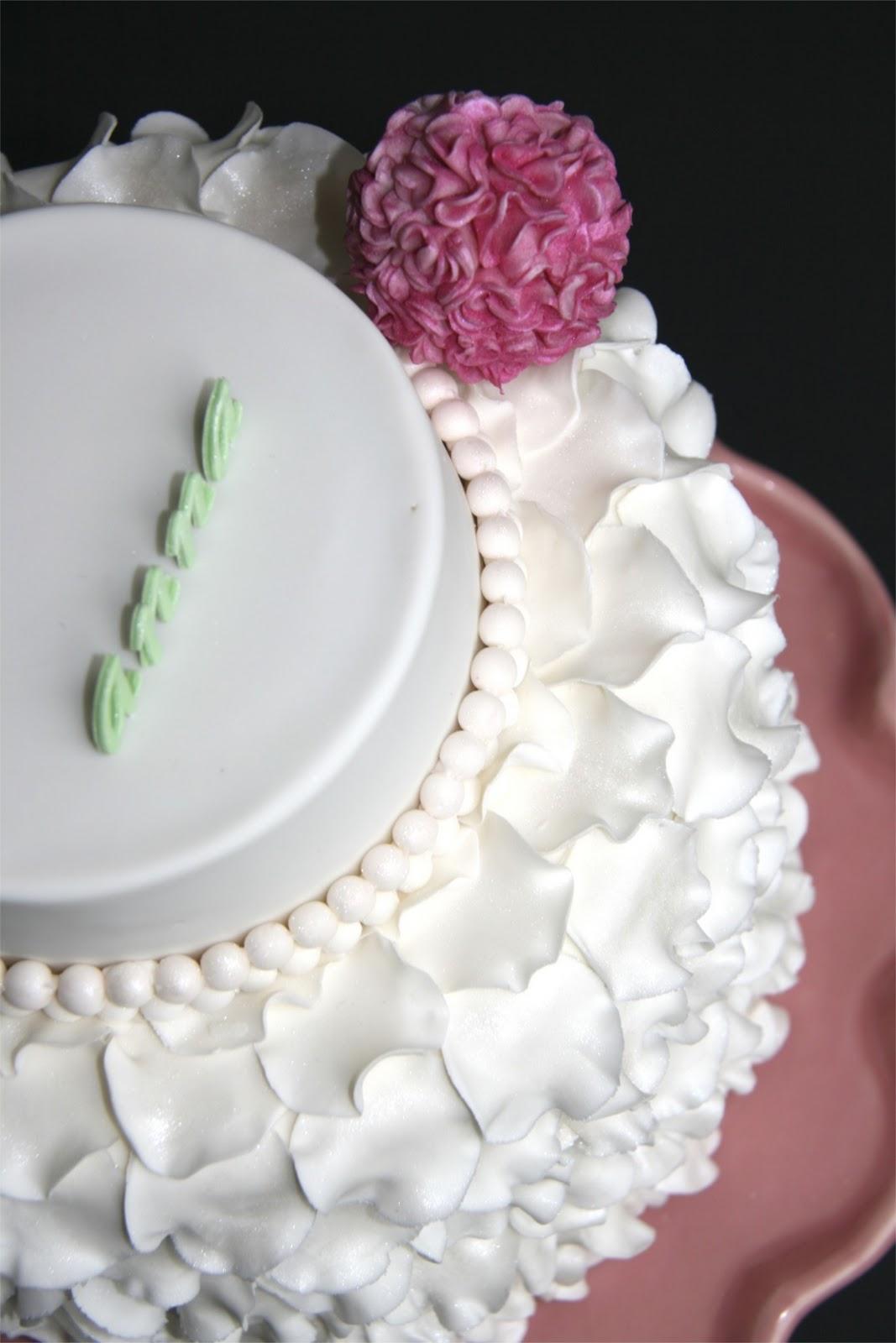 Sweet Cake Design Ruffle Pom Pom Cake