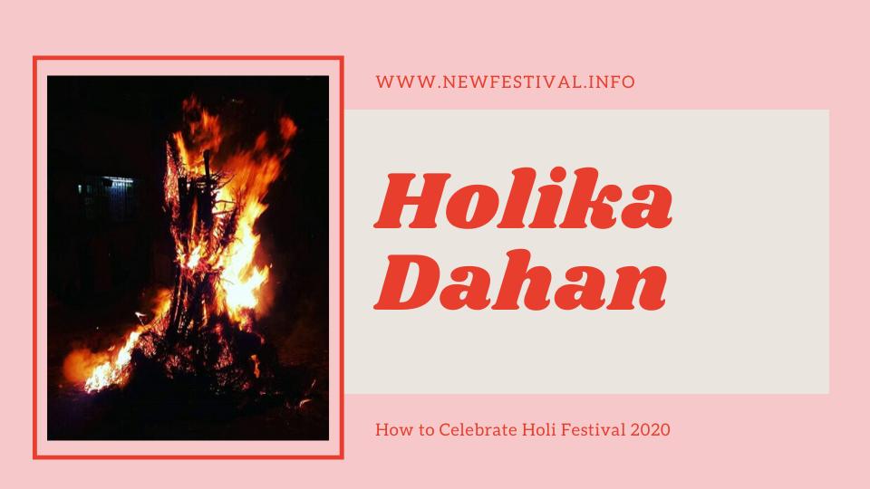 Holika Dahan - Burning fire of holi festival