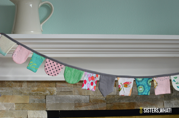 DIY Scap Fabric Banner