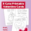 Print and Color Valentine Cards