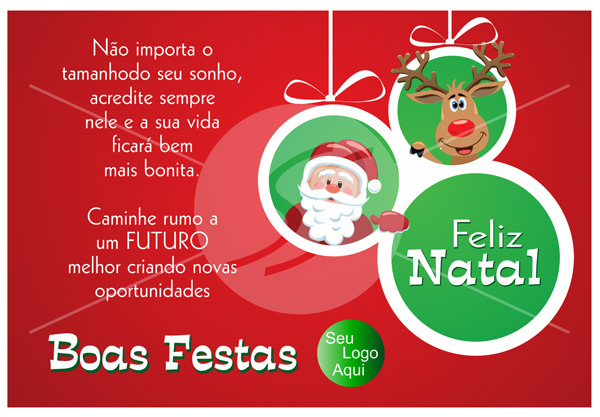 cartao de natal 01 - Cartão de Natal uma tradição duradoura
