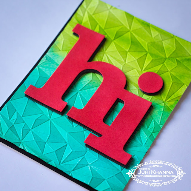 Added awesome dimension to watercolor card background with We R memory keeper next level embossing folder