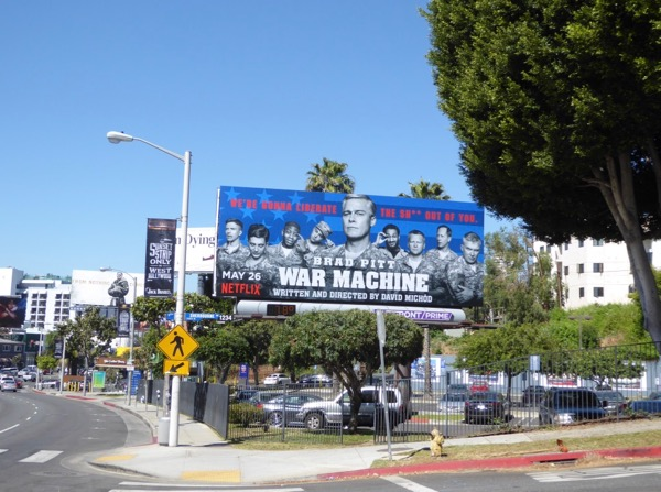 War Machine film billboard