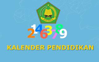 Kalender Pendidikan Madrasah Tahun Pelajaran 2018-2019